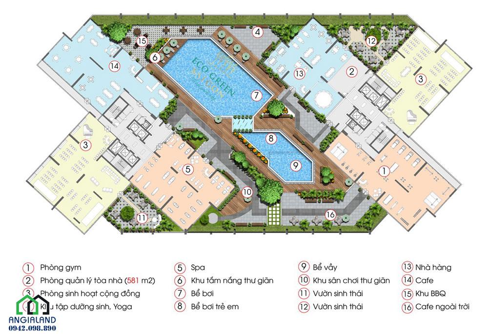 Tiện ích dự án căn hộ Eco Green Sài Gòn Quận 7