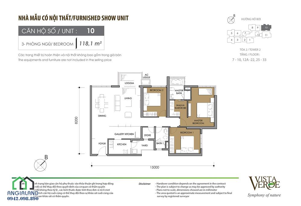 Mặt bằng thiết kế căn hộ Vista Verde Quận 2