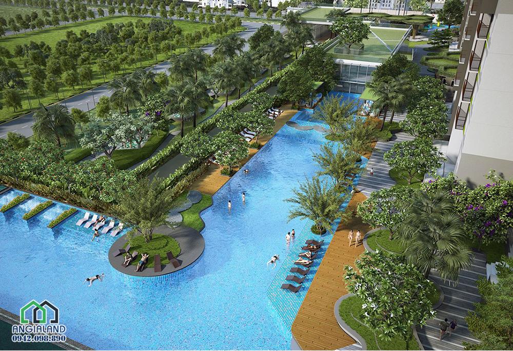 Hồ bơi tiêu chuần bên trong dự án Vista Verde Đồng Văn Cống Quận 2