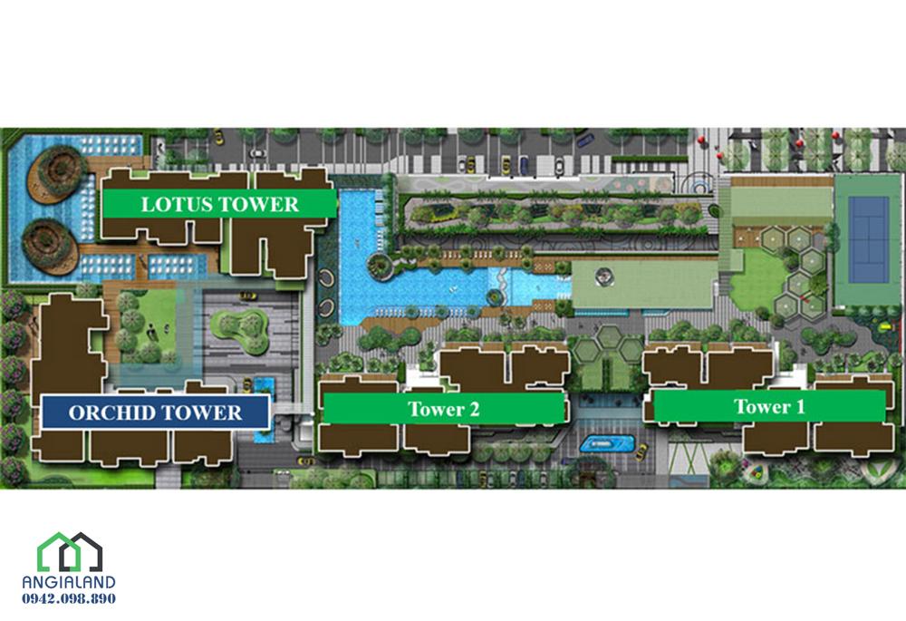 Mặt bằng và sơ đồ vị trí của các tòa căn hộ chung cư Vista Verde Đồng Văn Cống Quận 2