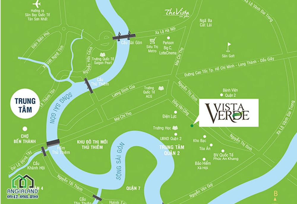 Vị trí địa chỉ dự án Vista Verde Đồng Văn Cống Quận 2
