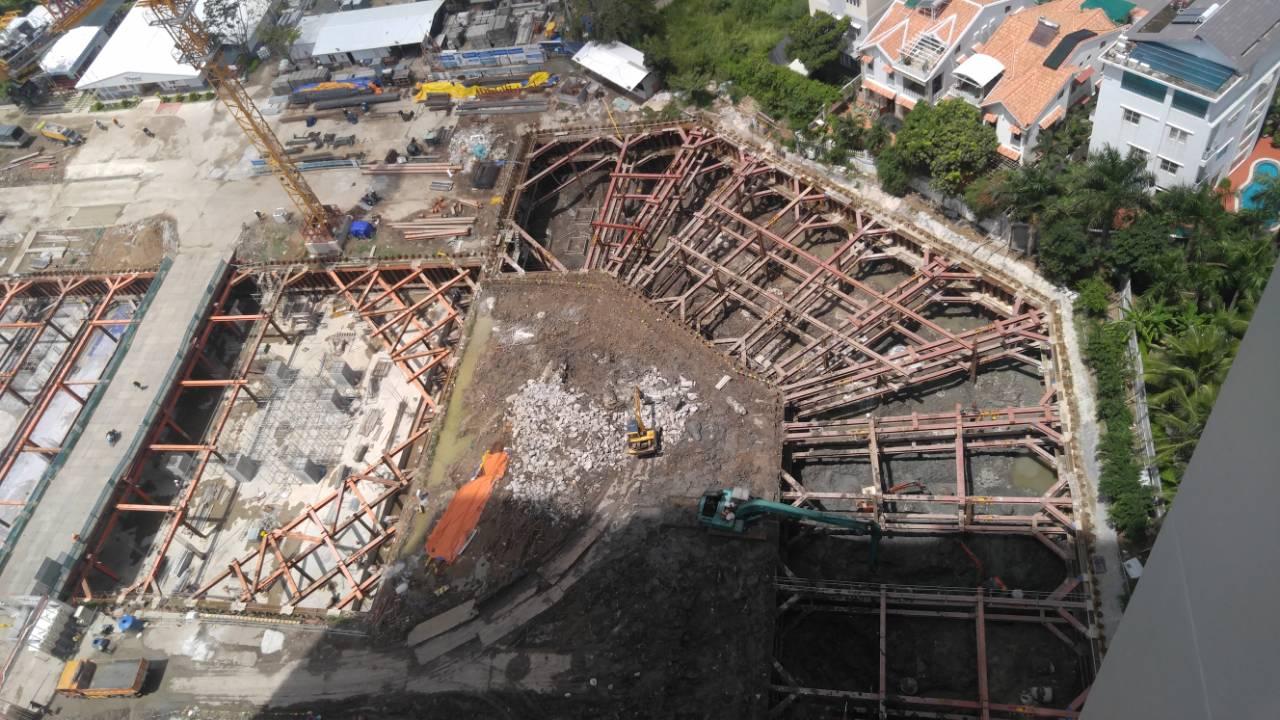 Tiến độ xây dựng dự án căn hộ chung cư River Panorama Quận 7 tháng 06/2018. Hiện tại sắp hoàn thiện phần hầm - Liên hệ Mua Bán + Cho Thuê 0942.098.890