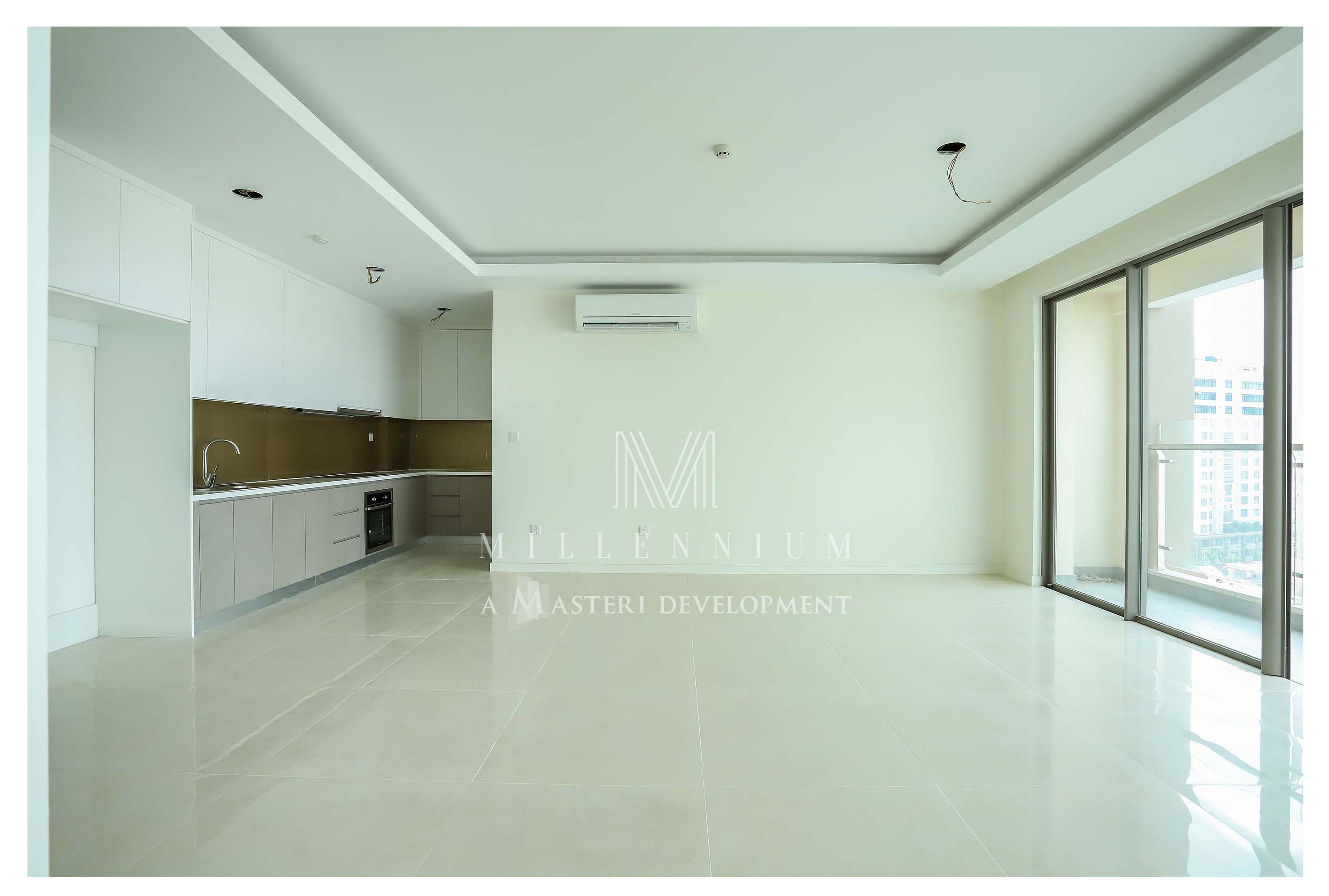 Nội thất nhà trống căn hộ cho thuê Masteri Millennium Quận 4