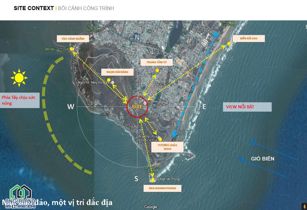 Vị trí tọa lạc dự án biệt thự biển The Regal Vũng tàu