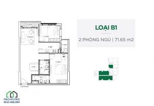 Cho thuê căn hộ Celadon City Quận Tân Phú, 71m2, 2 phòng ngủ, view hồ sinh thái