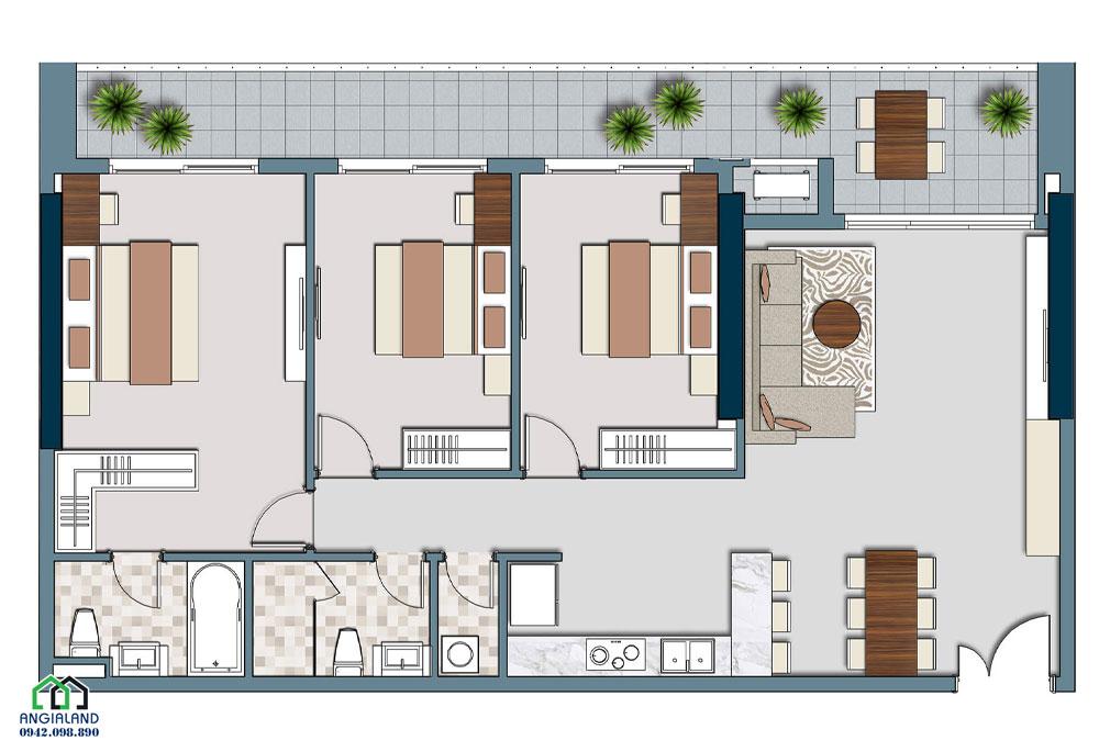 Thiết kế căn hộ Lancaster Legacy Quận 1