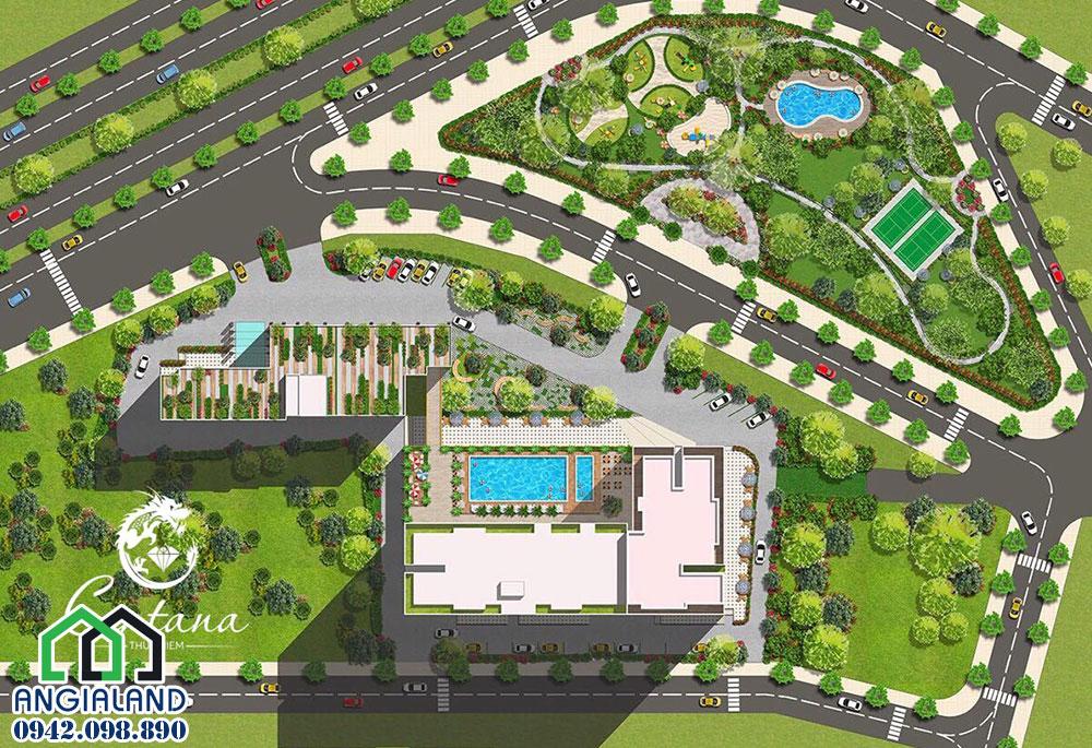 Mặt bằng thiết kế dự án căn hộ Centana Thủ Thiêm Quận 2