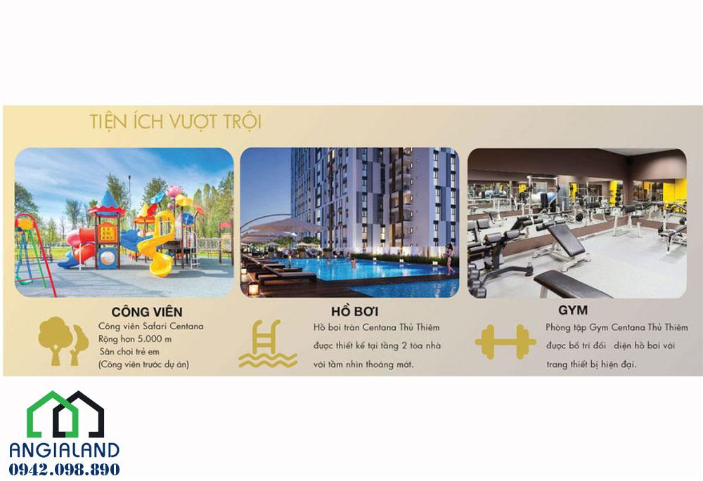 Tiện ích dự án căn hộ chung cư Centana Thủ Thiêm Quận 2