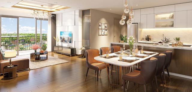 """Ngoài việc có """"sóng"""" với thông tin cầu Thủ Thiêm 4 (đúng vị trí vào Eco-Green"""", dự án của Xuân Mai Sài Gòn còn gây sốt với căn hộ hoàn thiện cùng nội thất như dự án có mức giá trên 3.000 USD/m2."""