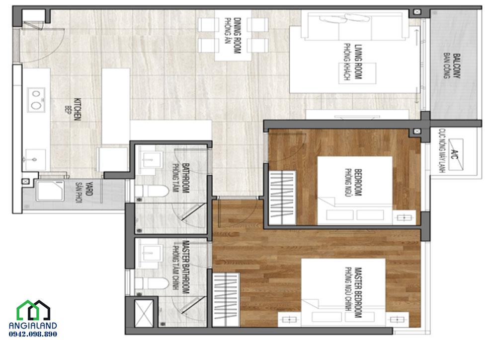 Thiết kế căn hộ 3 phòng ngủ dự án căn hộ Vincit Grand Park Quận 9