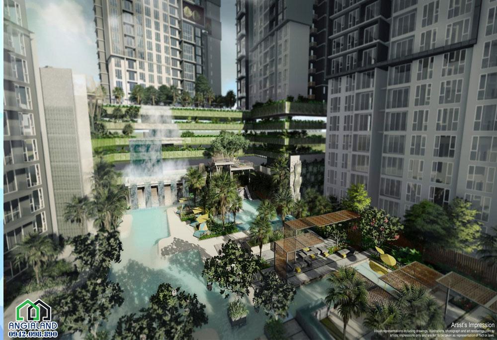 Tiện ích Bể Bơi dự án căn hộ infiniti Riviera Point quận 7