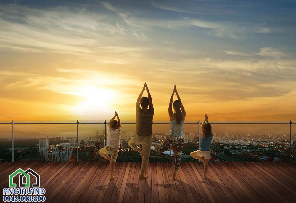 Hệ thông tiện ích Yoga & Gym tại dự án The Infiniti Riviera Point Quận 7