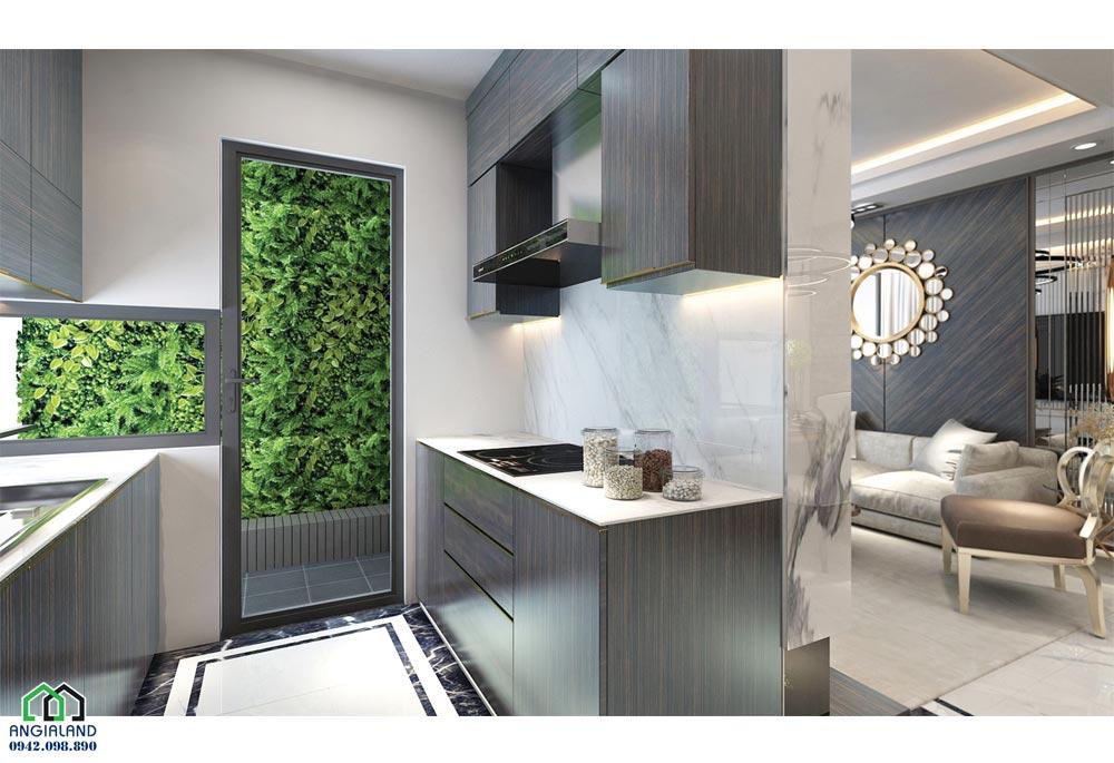 Khu vực bếp nhà mẫu dự án căn hộ chung cư Sunshine City Sài Gòn Quận 7 Đường Phú Thuận chủ đầu tư Sunshine Group