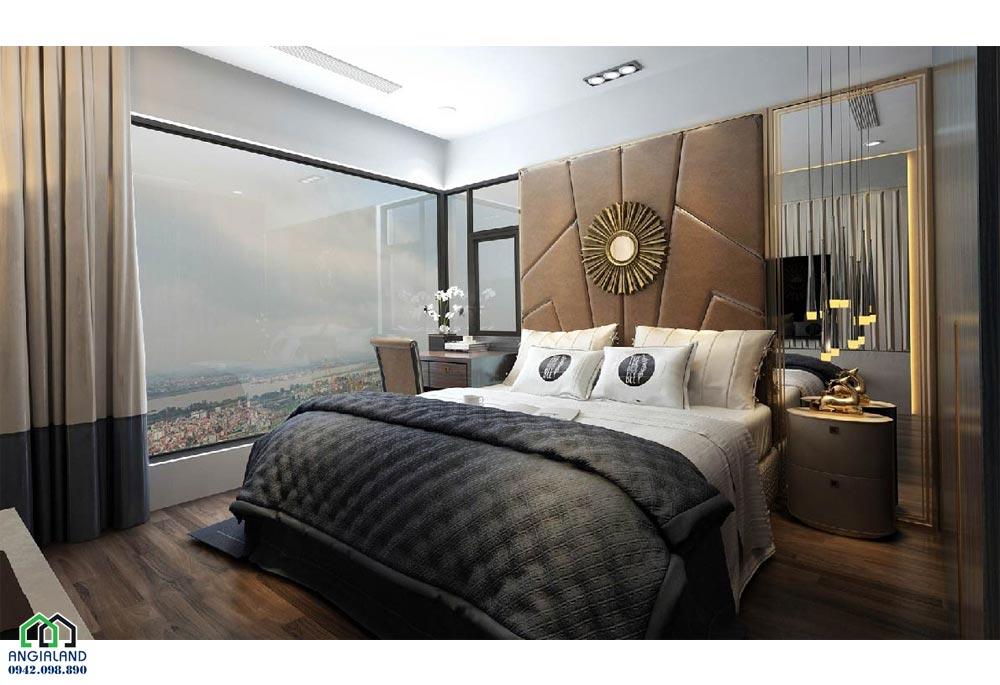 Phòng ngủ 1 căn hộ mẫu dự án căn hộ chung cư Sunshine City Sài Gòn Quận 7 Đường Phú Thuận chủ đầu tư Sunshine Group