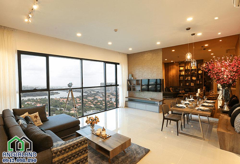 Nhà mẫu phòng khách dự án căn hộ Ascent Plaza Quận Bình Thạnh