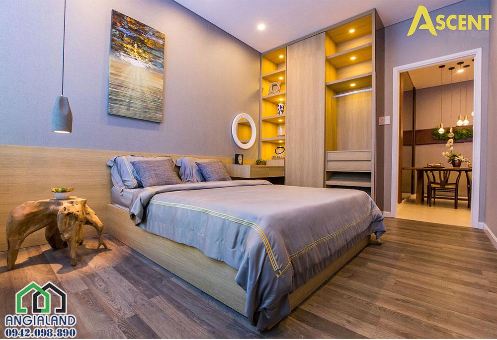 Không gian phòng ngủ dự án căn hộ Ascent Plaza Quận Bình Thạnh