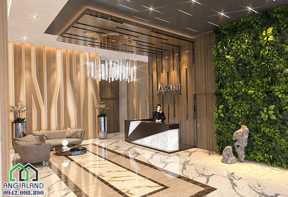 Tiện ích  sảnh chờ dự án căn hộ Ascent Plaza Quận Bình Thạnh