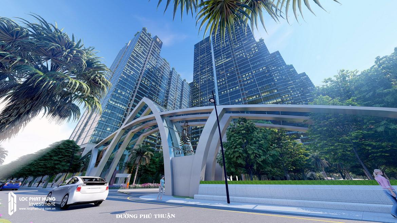 Cổng ra vào dự án cụm căn hộ chung cư Sunshine City Sài Gòn Quận 7