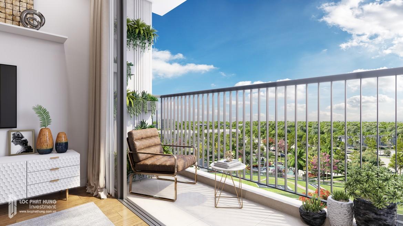 Ban công nhà mẫu dự án căn hộ Eco Green Sài Gòn Quận 7 – Sàn BĐS Lộc Phát Hưng 0942.098.890 – 0973.098.890