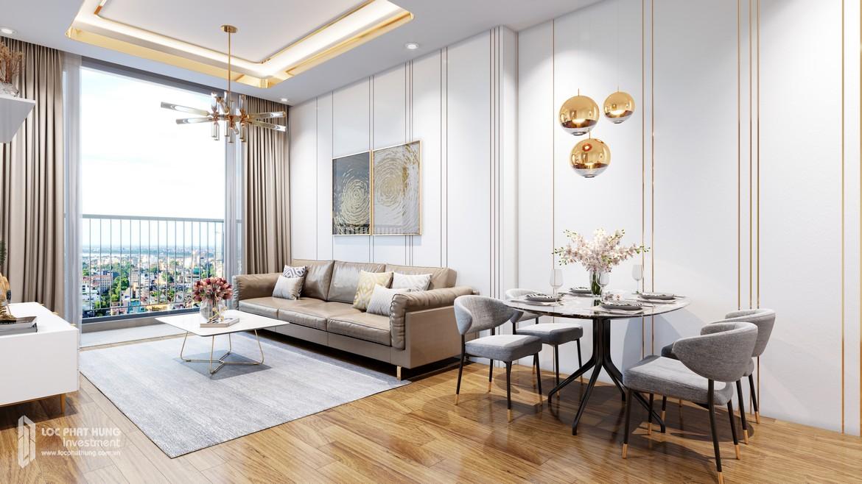 Phòng khách nhà mẫu dự án căn hộ Eco Green Sài Gòn Quận 7 – Sàn BĐS Lộc Phát Hưng 0942.098.890 – 0973.098.890