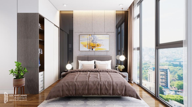 Phòng ngủ lớn nhà mẫu dự án căn hộ Eco Green Sài Gòn Quận 7