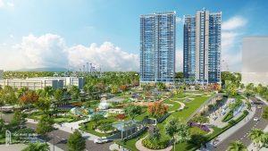 Mặt bằng thiết kế chi tiết căn hộ Eco Green Sài Gòn 2 Phòng ngủ