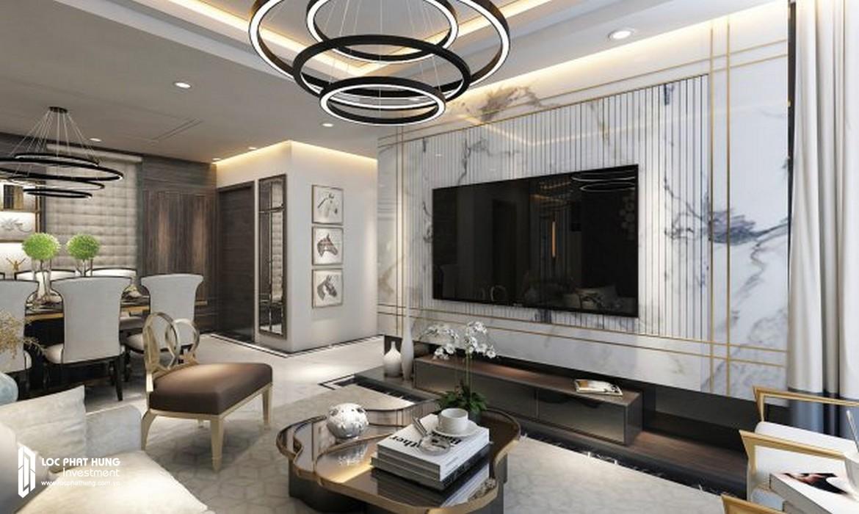 Phòng khách căn hộ Sunshine City Sài Gòn Quận 7 – SGD BĐS Lộc Phát Hưng 0942.098.890 - 0973.098.890