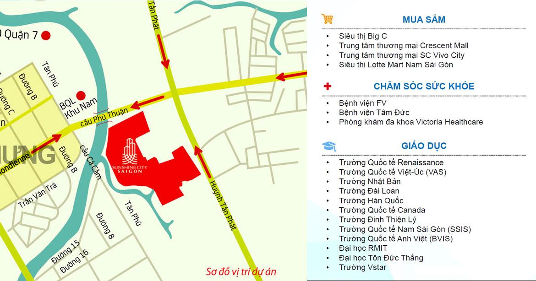 Tiện ích nội ngoại khu căn hộ Sunshine City Sài Gòn Quận 7
