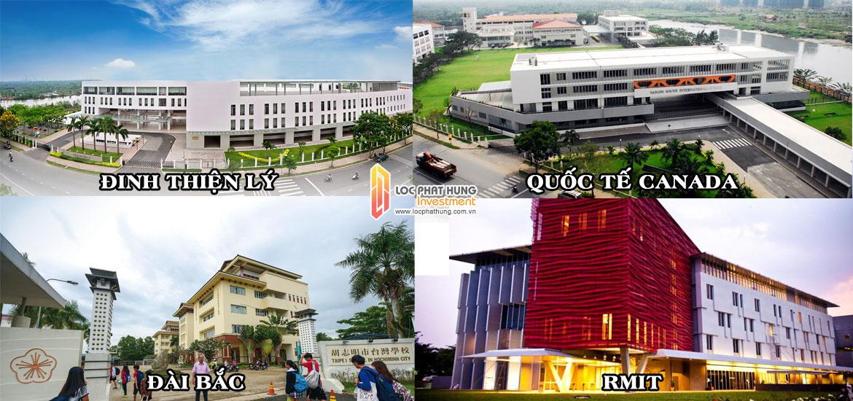 Hệ thống một số trường học tại quận 7