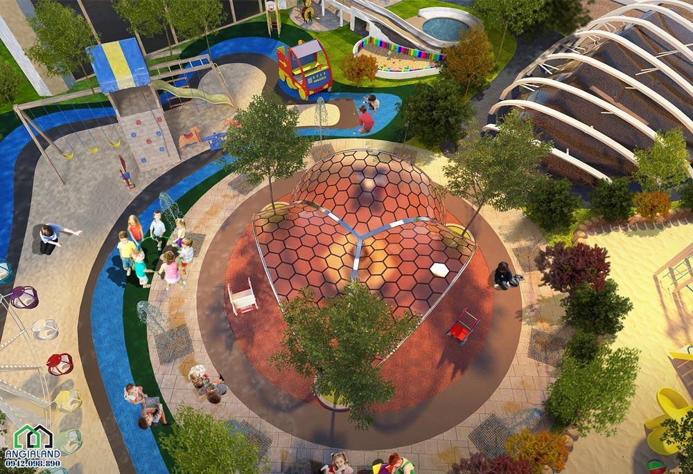 Khu công viên bên trong dự án Sunshine City Sài Gòn Quận 7
