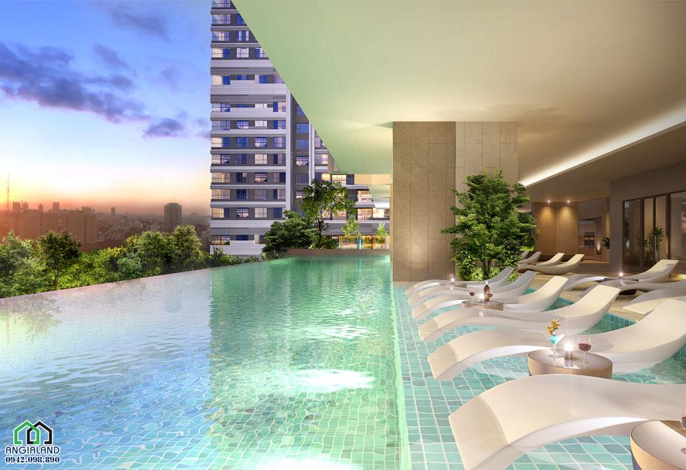 Tiện ích hồ bơi dự án căn hộ officetel Kingdom 101