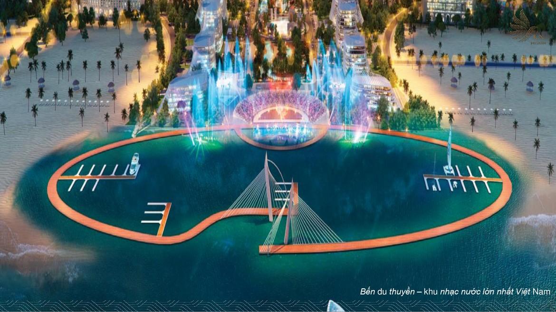 Bến du thuyền – khu nhạc nước lớn nhất Việt Nam trong khu đô thị KN Paradise Cam RanhBến du thuyền – khu nhạc nước lớn nhất Việt Nam trong khu đô thị KN Paradise Cam Ranh