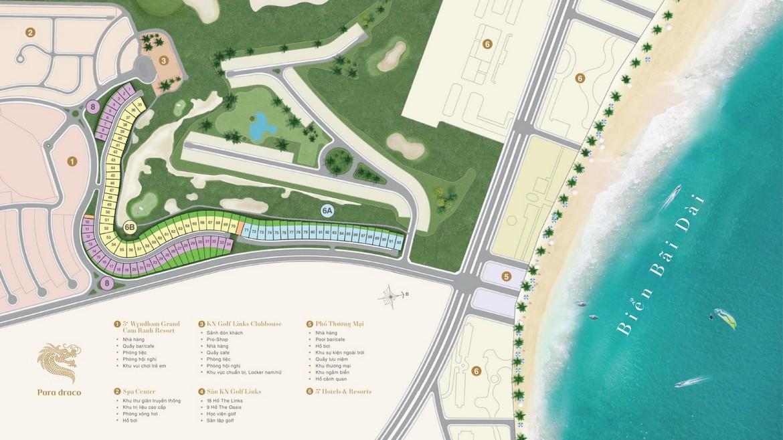 Sơ đồ phân khu dự án biệt thự biển Para Draco KN Paradise Cam Ranh Khánh Hòa