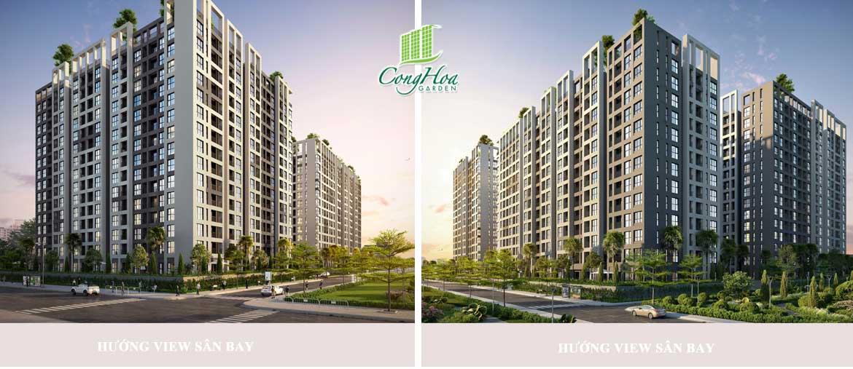 Phối cảnh dự án căn hộ chung cư Cộng Hòa Garden Quận Tân Bình Đường Cộng Hòa chủ đầu tư Thiên Phúc Điền