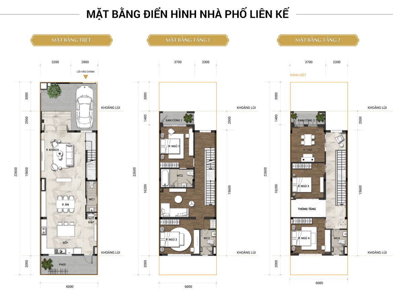 Mầu thiết kế nhà phố Senturia Nam Sai Gon
