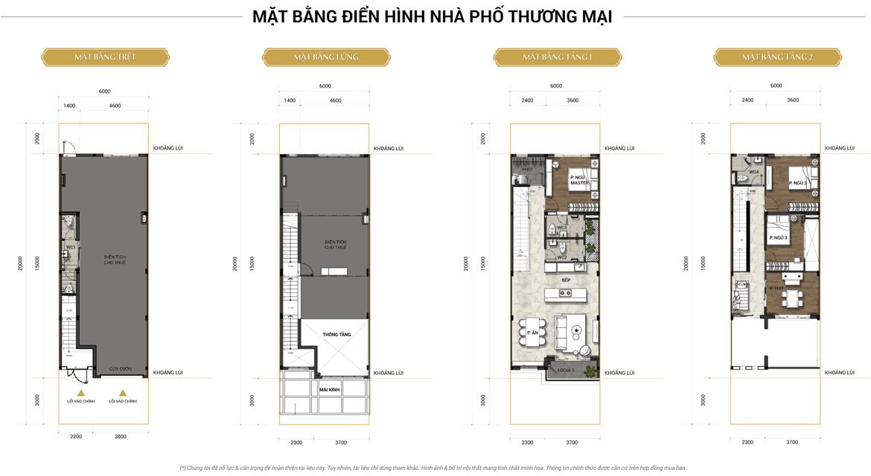 Mầu thiết kế Shophouse Senturia Nam Sai Gon