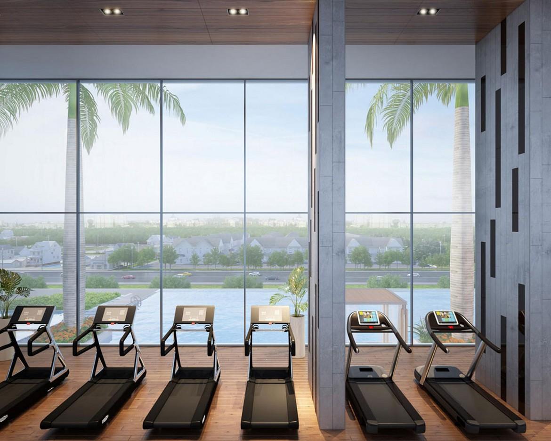 Tiện ích phòng Gym dự án căn hộ chung cư La Premier Quận 2 Phường Thạnh Mỹ Lợi chủ đầu tư Phú Cường Group và Lotte Việt Nam