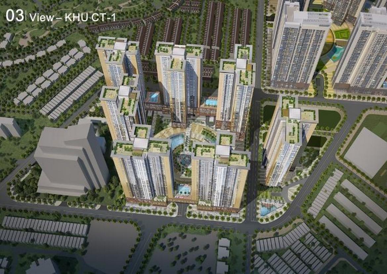 Quy mô cụm CT1 dự án căn hộ chung cư Raemian City Quận 2