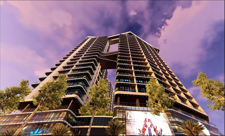 Phối cảnh mặt tiền căn hộ chung cư Sunshine Legend Sky Villas Quận 7 Đường Nguyễn Hữu Thọ chủ đầu tư Sunshine Group