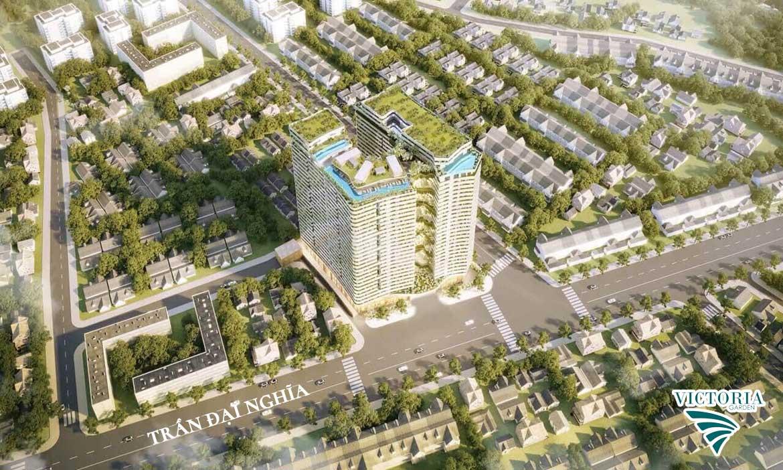 Tổng thể dự án căn hộ chung cư Victoria Garden Bình Chánh Đường Trần Đại Nghĩa chủ đầu tư Nguyên Hạnh Lợi
