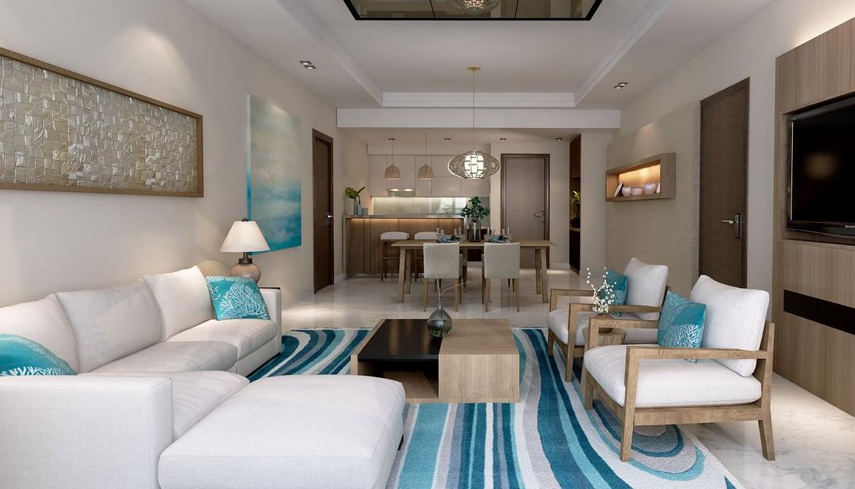 Phòng Khách thiết kế theo phong cách biển - SGD AnGiaLand Hotline 0931.567.878