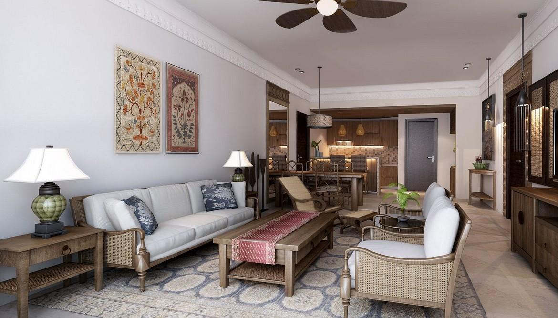 Phòng khách thiết kế theo phong cách Champa - SGD AnGiaLand Hotline 0931.567.878
