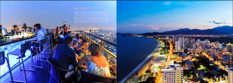 Khu Skybar tầng 40 tuyệt đẹp ngắm trọn thành phố biển Nha Trang