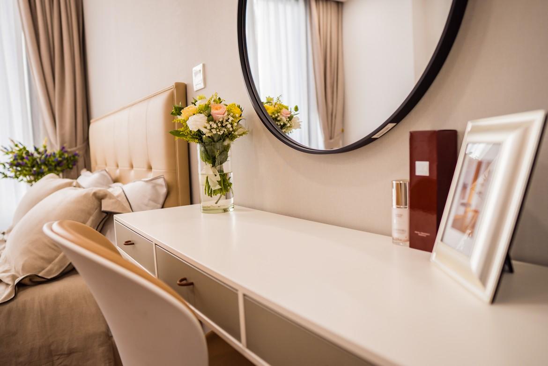 Phòng ngủ Master căn hộ mẫu Eco Green Sài Gòn quận 7 loại 2 phòng ngủ.