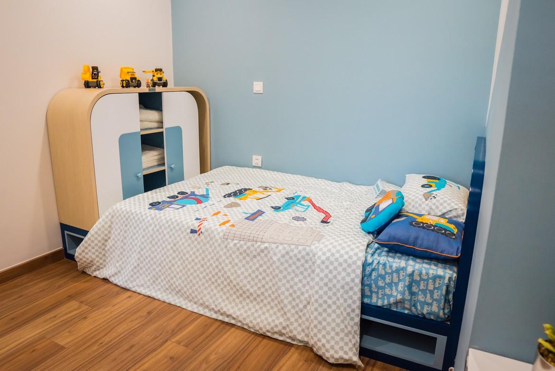 Phòng ngủ nhỏ căn hộ mẫu Eco Green Sài Gòn quận 7 loại 2 phòng ngủ.