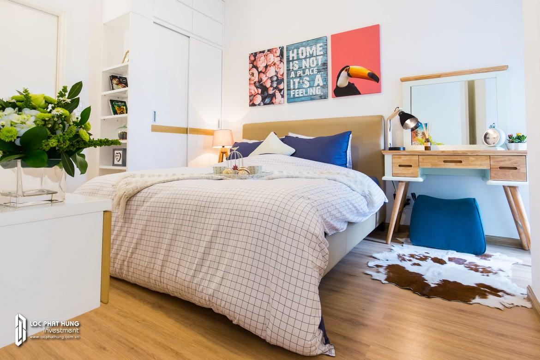 Phòng ngủ 1 nhà mẫu dự án căn hộ chung cư Hausbelo Quận 9 Đường Liên Phường chủ đầu tư Ezland - Loại 2 phòng ngủ + 2 WC - Liên hệ 0942.098.890 Xem nhà mẫu thực tế.