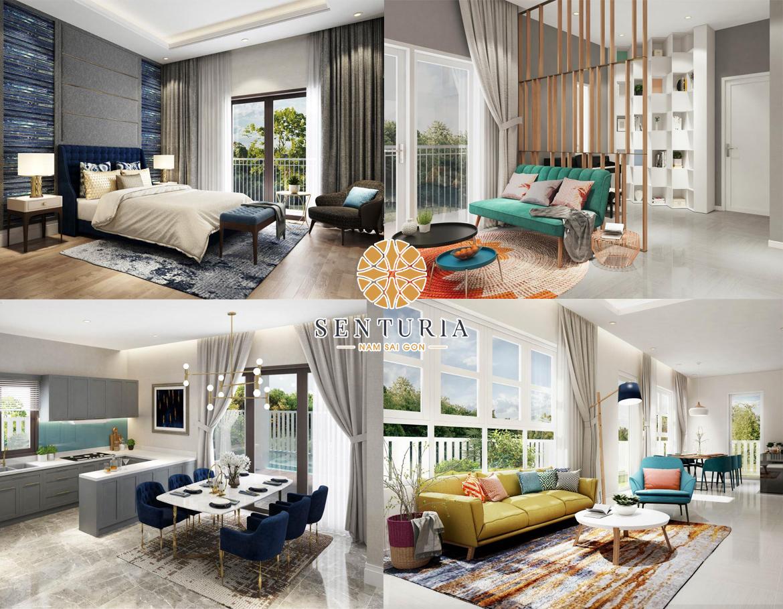Nhà mẫu dự án biệt thự Senturia Nam Sài Gòn Bình Chánh Đường Nguyễn Văn Linh chủ đầu tư Tien Phuoc