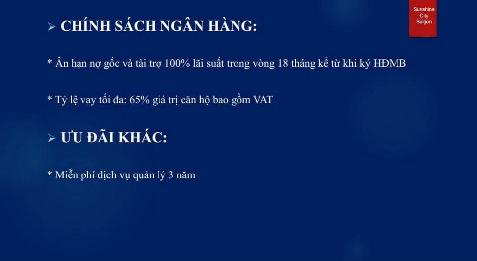 Phương thức thanh toán dự án căn hộ chung cư Sunshine City Sài Gòn Quận 7 Đường Phú Thuận chủ đầu tư Sunshine Group