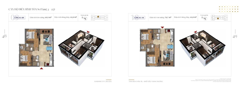 Thiết kế chi tiết căn hộ Sunshine City Sài Gòn Quận 7 Block S1-A1-09-+-A1-10