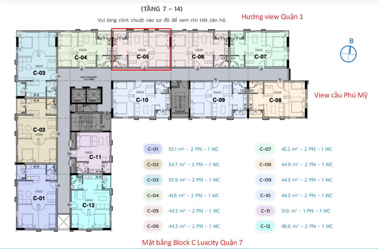 Chuyển nhượng căn hộ LuxCity Quận 7 giá 1,6 tỷ/căn - liên hệ 0942.098.890